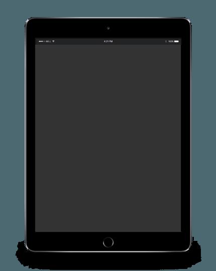 ipad negro diseño web