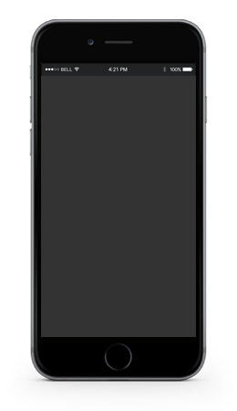 iphone negro diseño web